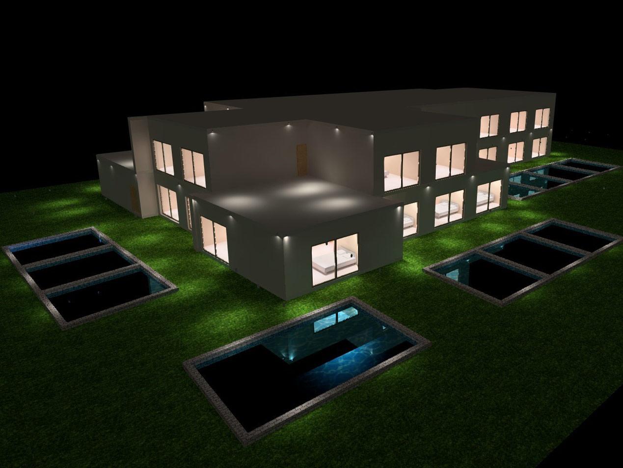 Xenodoxeio-3d-rendering